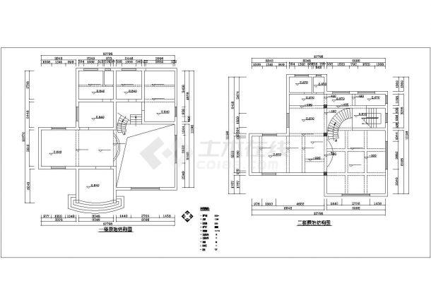 珠海市泾渭新村某4层框架结构独栋别墅全套装修装饰设计CAD图纸-图二