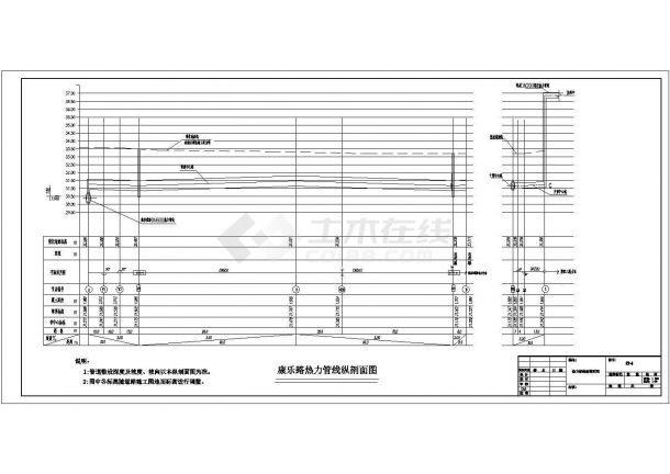 热力管线设计_某热力管线工程设计CAD图-图二