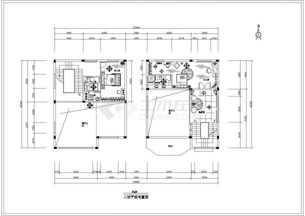 重庆市万和村某3层砖混结构私人别墅全套装修装饰设计CAD图纸-图一