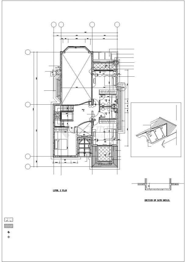 焦作市旭城新村某350平米三层砖混结构单体别墅全套建筑设计CAD图纸-图一