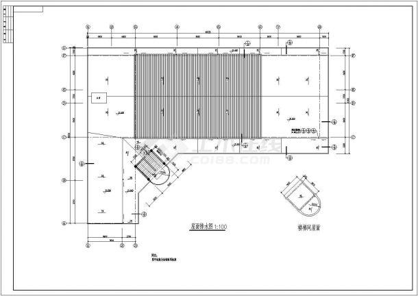 安徽省某大学六层框架结构教学楼建筑工程设计CAD图(含建筑设计说明)-图一