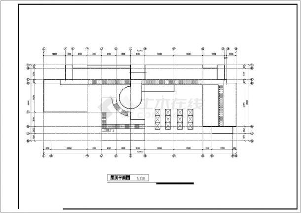 湖北某大学地下一层地上四层综合楼建筑工程设计CAD图(含人防工程平面图)-图一