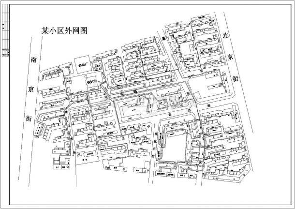 供暖设计_某小区供暖外网CAD图-图一