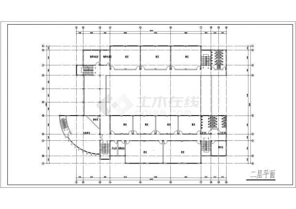 某地区小学校园规划及教学楼建筑是构成设计CAD图(含总总平面图)-图二