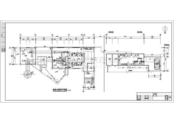 供热设计_某县集中供热锅炉房设计CAD图-图一