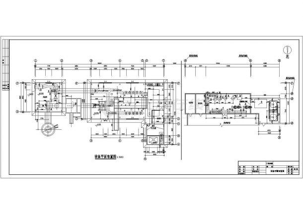 供热设计_某县集中供热锅炉房设计CAD图-图二