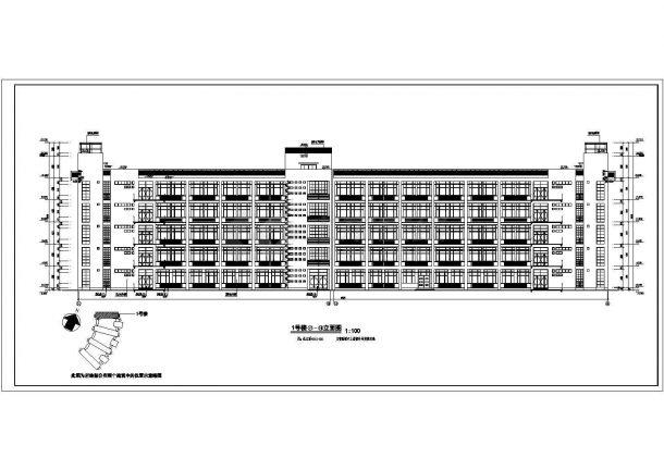 某城市水利职业技术学院现浇钢筋混凝土结构教学楼建筑工程设计全套CAD图(含图纸说明)-图一