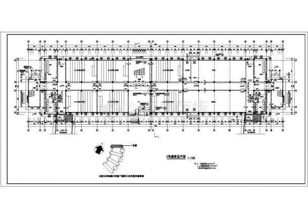 某城市水利职业技术学院现浇钢筋混凝土结构教学楼建筑工程设计全套CAD图(含图纸说明)-图二