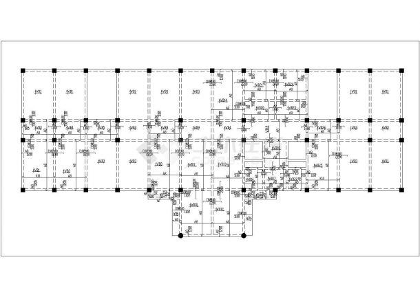 四层办公楼设计施工图(建筑结构CAD图纸、结构计算书、施工组织、施工进度计划表、施工平面图等)-图一