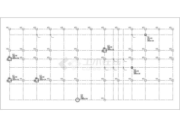 四层办公楼设计施工图(建筑结构CAD图纸、结构计算书、施工组织、施工进度计划表、施工平面图等)-图二