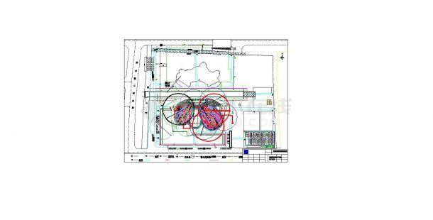 山东文化艺术中心大剧院钢结构安装施工现场平面布置图 cad图纸-图一