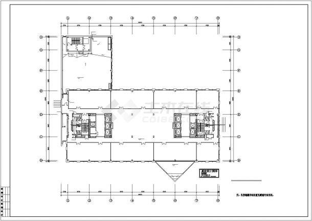 某高层办公楼给排水设计cad施工图(含设计说明,49图)-图一