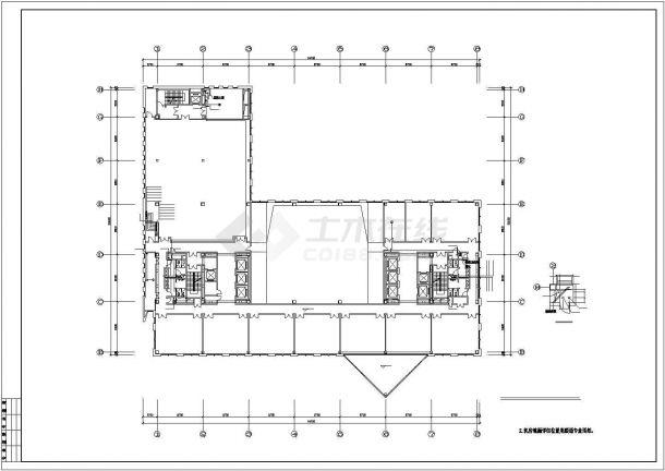某高层办公楼给排水设计cad施工图(含设计说明,49图)-图二