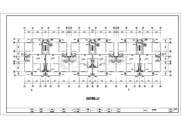 某多层办公楼给排水设计cad施工图(含设计说明)-图一