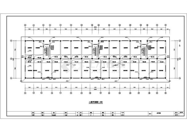 某多层办公楼给排水设计cad施工图(含设计说明)-图二
