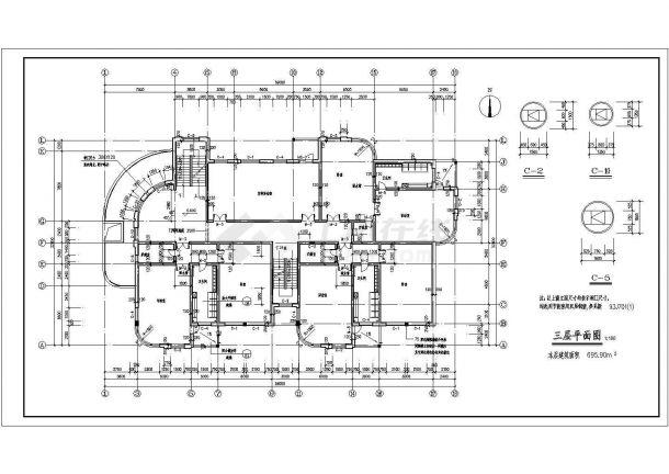 某地区9班幼儿园建筑设计方案图-图二