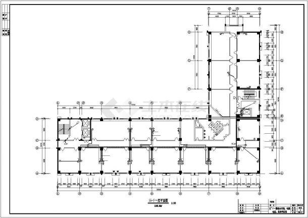 某十三层办公楼电气设计方案CAD图-图一