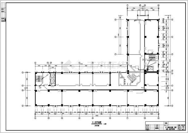 某十三层办公楼电气设计方案CAD图-图二
