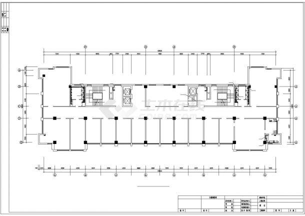 某市机关高层办公楼给排水设计CAD图(共21张)-图一