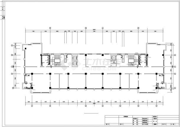 某市机关高层办公楼给排水设计CAD图(共21张)-图二