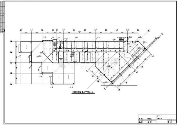 8层人力中心办公楼给排水设计施工图(含设计说明)-图一