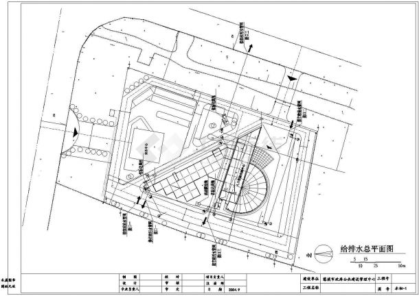 8层人力中心办公楼给排水设计施工图(含设计说明)-图二