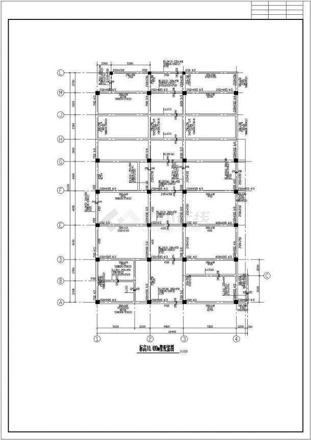 南京市某小学全套教学楼cad结构设计施工图-图一