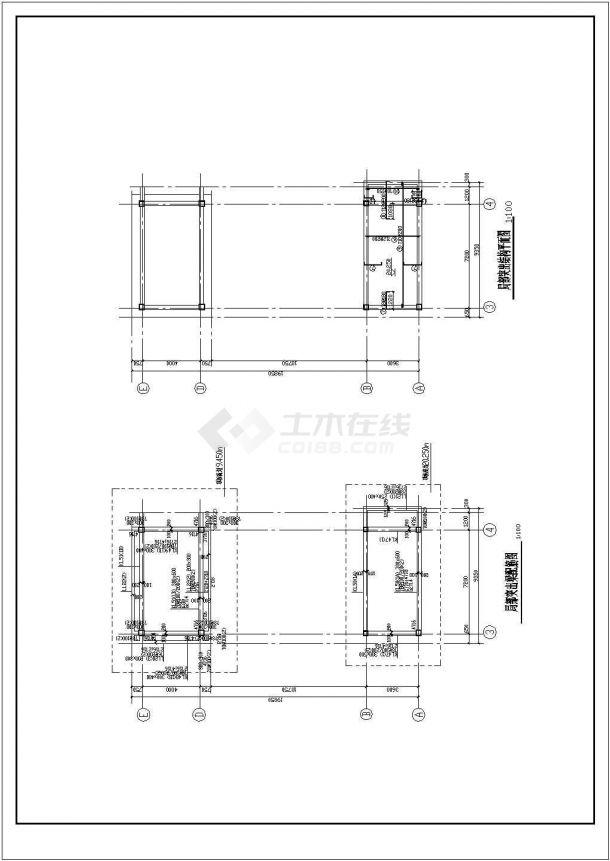 南京市某小学全套教学楼cad结构设计施工图-图二