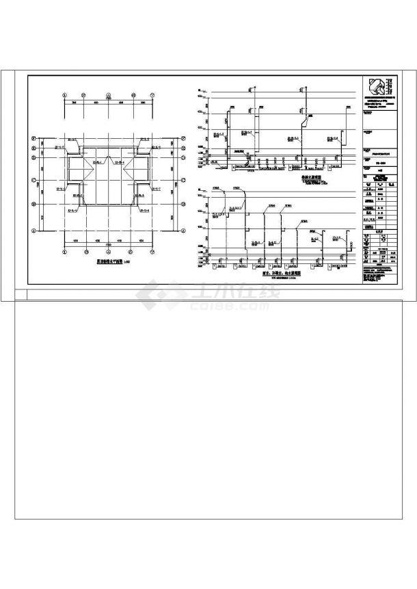 [安徽]大型建筑群高档别墅区商住楼给排水消防施工图cad图纸-图一