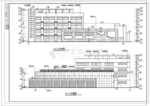 某地区高校行政楼建筑设计方案图-图一