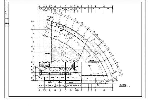某地区高校行政楼建筑设计方案图-图二
