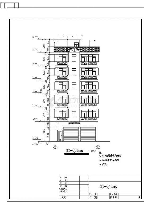某地区出租屋建筑详细设计施工方案CAD图纸-图一