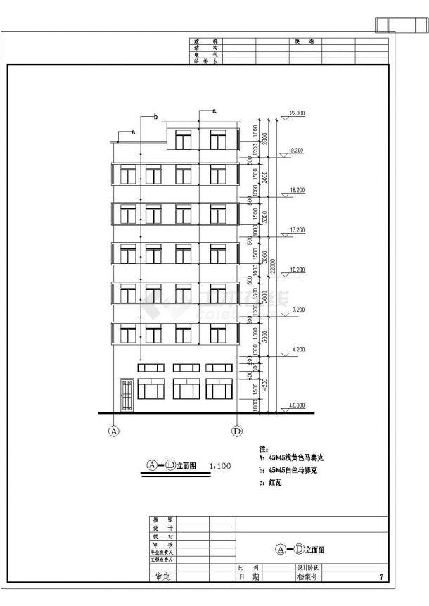 某地区出租屋建筑详细设计施工方案CAD图纸-图二