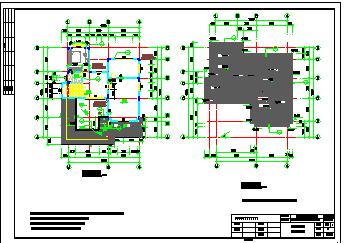某别墅全套建筑结构设计施工cad图纸-图一