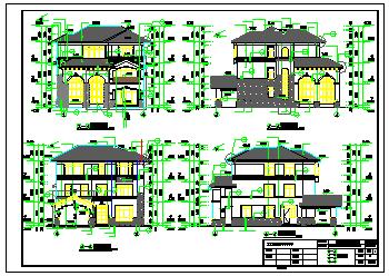 某别墅全套建筑结构设计施工cad图纸-图二