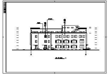 商场设计_某四层框架结构带地下室中型商场建筑施工cad图纸-图一