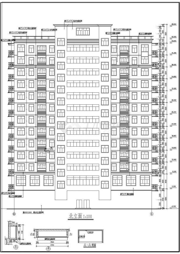 商业综合楼 CAD建筑设计施工图-图一