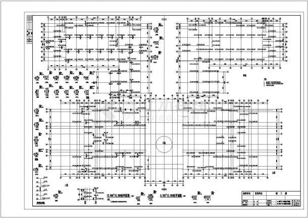 某框架教学楼结构CAD 建筑设计施工图-图二
