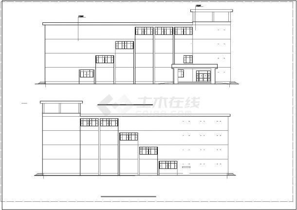 某五层框架教学楼建筑结构毕业设计CAD建筑设计施工图-图一
