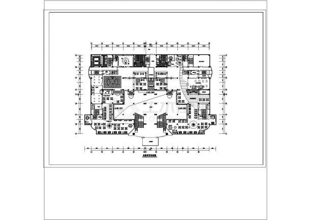 某五星级酒店建筑方案CAD建筑设计施工图-图二