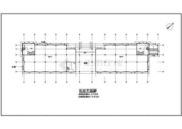 某小区娱乐城CAD建筑设计施工图-图一