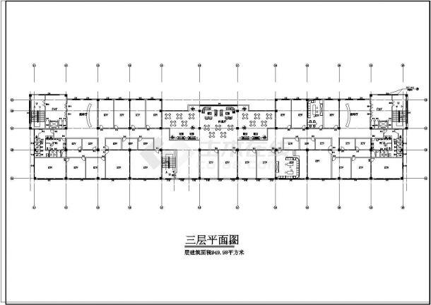 某小区娱乐城CAD建筑设计施工图-图二