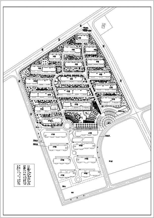 某花园小区设计CAD施工完整大样全套图纸-图一
