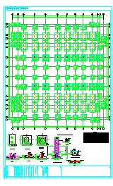 六层钢混框架结构大学实验实训楼建筑结构设计施工图纸-图一