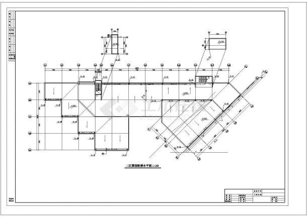 人力中心办公楼给排水设计cad图,含施工说明-图二