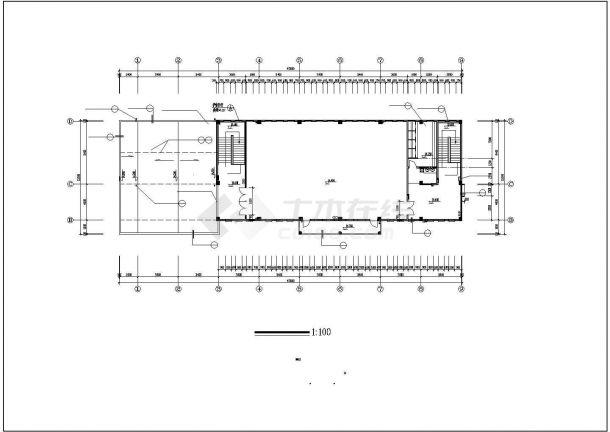淮安小学多功能教学楼设计建筑施工cad图,共十一张-图二