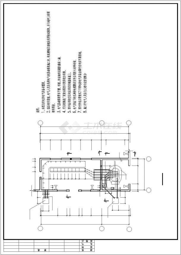 某地大型机修机房电气布置详图-图二