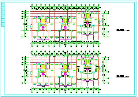 某六层板式住宅建筑方案cad设计图-图一