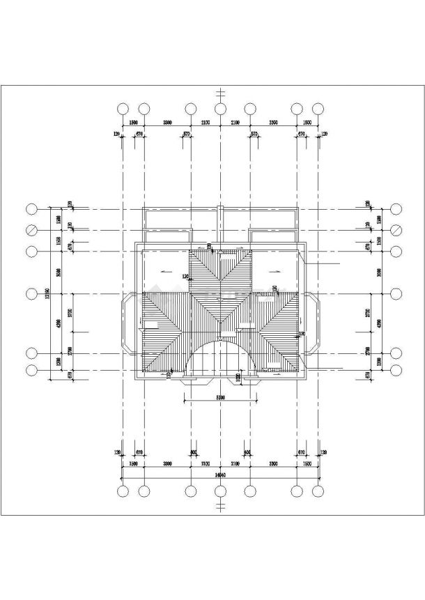 漳州市城禾新村某3层框架结构别墅建筑设计CAD图纸(含半地下室)-图一