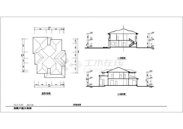 合肥某村镇386平米双层砖混结构单体别墅建筑设计CAD图纸(含效果图)-图一